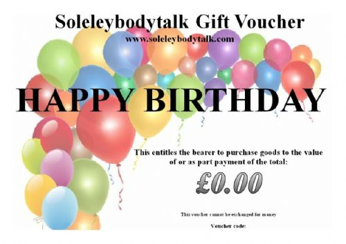 Birthday E-card Gift Vouchers